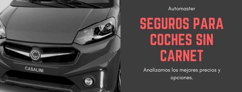seguro coches sin carnet