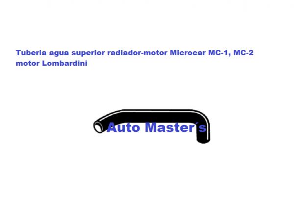 Tuberia agua Microcar MC Lombardini