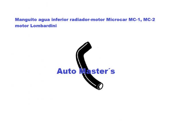 Tuberia agua inferior radiador MC Lombardini