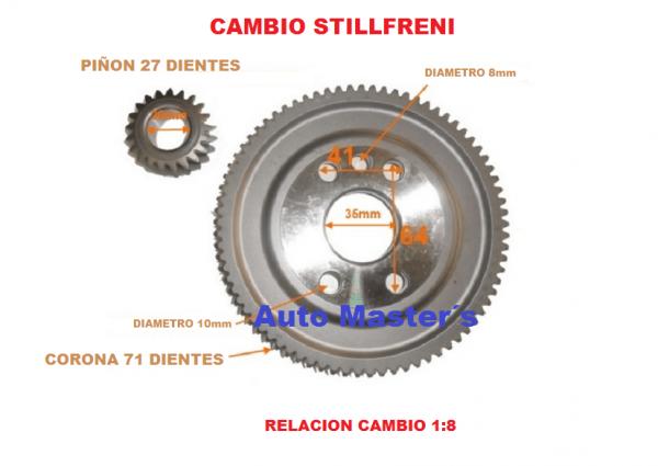Kit corona + piñon Stilfreni 1-8